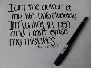mistakes in pen